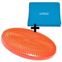 Disco Equilibrio Inflavel + Faixa Elastica Forte Azul Liveup -