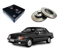 Disco freio dianteiro mds chevrolet monza 1.6 1.8 1985 a 1990 -