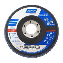 Disco Norton Lixa Flap 4 1/2 Polegadas Grao 80 -