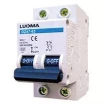 Disjuntor Bipolar 10A Curva C Din Mini Lukma Inmetro - Lcg eletro