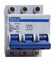 Disjuntor Tripolar 100A Curva C Din Mini Lukma Inmetro - Lcg eletro