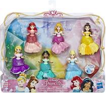 Disney Princess Collectible Dolls, Conjunto de 6 com 6 HASBRO -