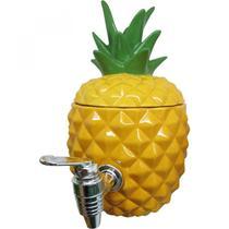Dispenser Cerâmica Pineapple 1,8L 27cmx22cmx25,5cm Urban Amarelo -