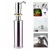 Dispenser e Dosador Inox Bancada Sabão Líquido e Detergente GH050 - Globalmix