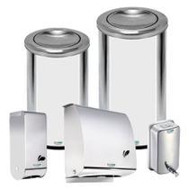 Dispenser  Inox KIT 5 Un Kai Toa Sab-1L e 2 Lix 18-35L BIO - Conjunto c/ 5 un