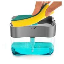 Dispenser Para Detergente E Bucha C/dosador Preto - Fwb