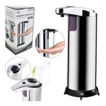Dispenser para sabonete líquido automático de inox 280ml - Eu Quero Presentear