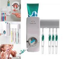 Dispenser Pasta Dente Aplicador Creme Dental Suporte Escovas de Dente Banheiro Parede -