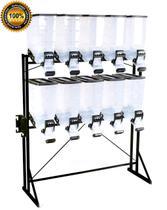 Dispenser Ração Porta Durabox 10x40 litros Standard Black - Durapets