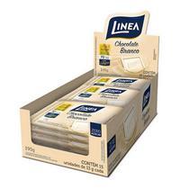 Display 15 Unidades 13g Chocolate Branco Mini Zero Adição de Açúcar e Lactose Linea 195g -