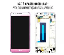 Display Frontal LG X CAM K580 Rose Original com Aro