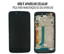 Display Frontal Moto C Plus XT1726 Preto com Aro Original - Motorola