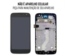 Display Frontal Moto G4 Play XT1600 XT1603 Com Aro Original - Escolha Cor - Motorola