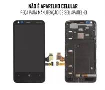Display Frontal Nokia Lumia N620 Preto com Aro