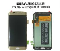 Display Frontal S6 Edge G925i Dourado sem Aro - Samsung