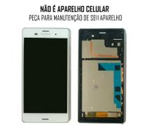 Display Frontal Sony Xperia Z3 D6633 D6653 Original Retirado Branco Com Aro (1 Chip)