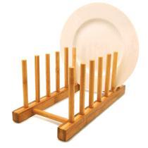 Display suporte p/6 pratos em bambu tyft yoi -