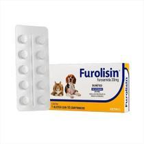 Diurético furolisin 20mg caixa com 10 comprimidos - Vetnil