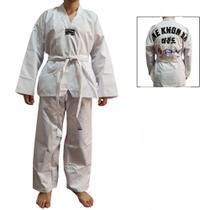 Dobok / Kimono Taekwondo Canelado - Branco - Adulto - Torah -