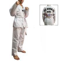 Dobok / Kimono Taekwondo Canelado - Branco - Infantil - Torah -