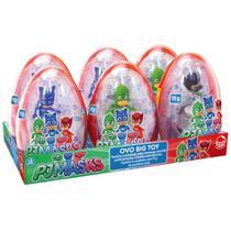 Doce e Figura Pj Masks Ovo Big Toy Caixa com 6 Sortidos 4999 - Dtc