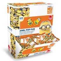 Doce Pirulito Anel Pop Fun Minions Caixa com 32 Sortido 4841 - Dtc