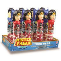 Doce Tubo de Balas Liga da Justiça Caixa com 12 Sortido 3983 - Disney