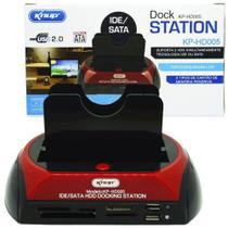 Dock station clonadora hd ide sata - knup hd-005 -