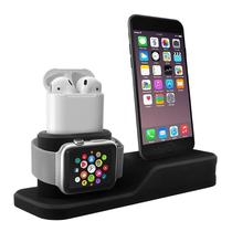 Dock Suporte Base Compatível iPhone AirPods Apple Watch - BAÚ DO VIKING