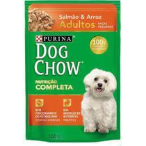 Dog Chow Sache Adulto Racas Pequenas Salmao E Arroz - 100 Gr - Nestlé Purina -