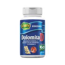 Dolomita D - Cálcio + Magnésio + Vitamina D - 60 Cápsulas 950mg - Unilife -