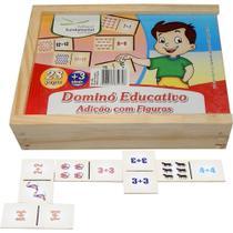 Dominó Educativo Adição com Figuras - REF: 1358 - Fundamental - Editora Fundamental