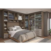 Dormitório Casal 7 Peças com Espelho Connect Luciane -