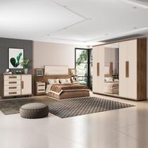 Dormitório Casal Completo Estrela RV Móveis Frejó / Off White -