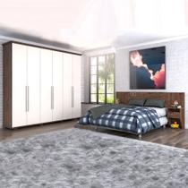 Dormitório Casal Everest Zanzini Jacarandá / Off White -