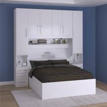 Dormitório De Casal Completo 1220 Branco - Móveis Ilan