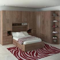 Dormitório De Casal Completo 1222 Castanho - Móveis Ilan