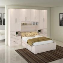 Dormitório De Casal Completo 1223 Carvalho Claro - Móveis Ilan