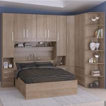 Dormitório De Casal Sem Cama 1219S Castanho - Móveis Ilan