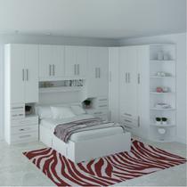 Dormitório De Casal Sem Cama 1222S Branco - Móveis Ilan