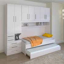 Dormitório De Solteiro Transversal 1326 Esquerdo Branco - Móveis Ilan