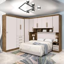 Dormitório Modulado Georgia J&A Jequitibá / Off White Para Cama Box 1,38M Casal - Ja Móveis
