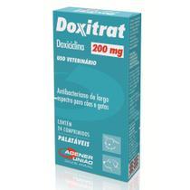Doxitrat 200 mg - Antibacteriano à base de Doxiciclina para Cães e Gatos - Agener (24 comprimidos palatáveis) - Agener União