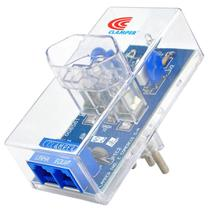 DPS Clamper Energia + Tel Proteção contra Raios e Surtos na Rede Elétrica e de Telefonia RJ11 Biv 10A -