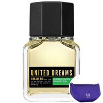 Dream Big Man Benetton Eau de Toilette - Perfume Masculino 60ml+Necessaire Roxo com Puxador em Fita -