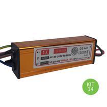 Drive Reator 50w Para Reposição De Refletor Led Bivolt Kit 14 - Brilhante
