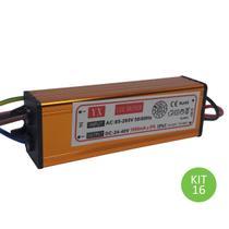 Drive Reator 50w Para Reposição De Refletor Led Bivolt Kit 16 - Brilhante
