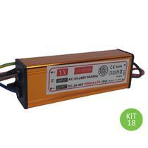 Drive Reator 50w Para Reposição De Refletor Led Bivolt Kit 18 - Brilhante