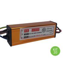 Drive Reator 50w Para Reposição De Refletor Led Bivolt Kit 20 - Brilhante