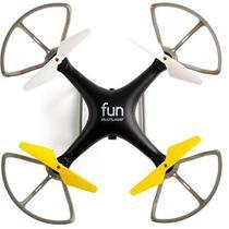 Drone Fun Alcance 50 M 4 Hélices Preto E Amarelo ES253 - Multilaser -